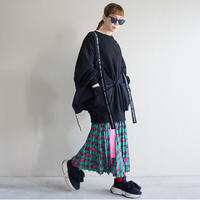 【受付終了】thomas magpie pleated long skirt key(2201608)