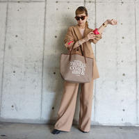 holiday tote L brown logotip