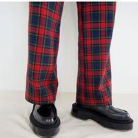 【受付終了】thomas  magpie  check tuck pants(2204306)