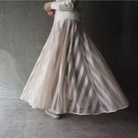 【受付終了】thomas magpie long tulle skirt stripe(2201605)