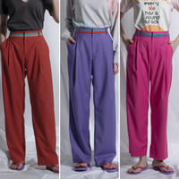 thomas magpie colour belted pants(2211301)【受付終了:3月お届け】