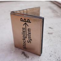 BI-fold wallet PPP champagne