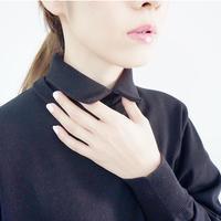 【受付終了】thomas magpie layered knit black(2204711)