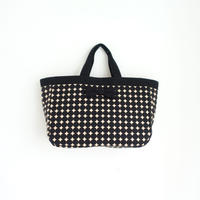 town mini tote dots black