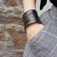 happiness leather cuff