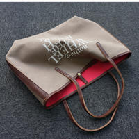 holiday tote S brown logotip