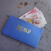 leather billfold -RICHLY-pacific blue
