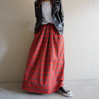 予約終了【先行予約】thomas magpie long skirt tartan check red(2194610)