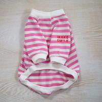MAKE SMILEボーダーTシャツ(ピンク)
