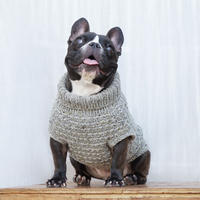かのこ模様のセーター(薄墨色 ) /  Knit Pullover * Dappled Pattern (Gray)