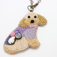 only wan 『Anya』ビーズの犬型バッグチャーム