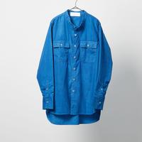 BAND COLLAR SHIRT バンドカラーシャツ 藍染め