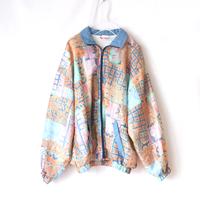 pale pattern zip jacket_po