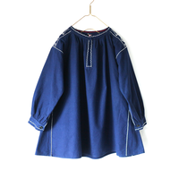 embroidery navy smock_tp