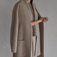 handmade nocollar long coat