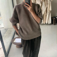 予約販売 puff half neck  knit