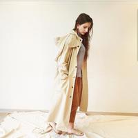 予約販売 10月中旬発送 oversize trench coat