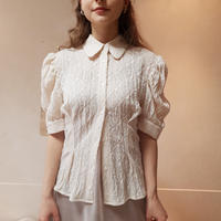 Wrinkle vintage lace blouse
