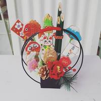 亥年の食べられるクッキーブーケ☆門松クッキー☆お正月飾り・お年賀・手土産に!!
