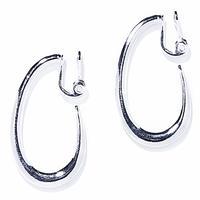 ivy hoop earring / silver