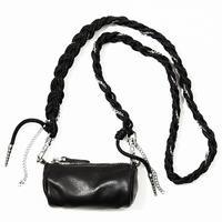 tube chain bag / black /white