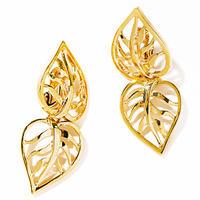 W leaf earring