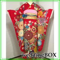 ★WeddingBOX 人気の赤!振袖 梅菊松 金駒刺繍★美品 成人式 010z10