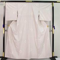 t1612▲中川織物 丸文 灰白色 逸品 最高級 未使用品 しつけ付き 本場白大島紬