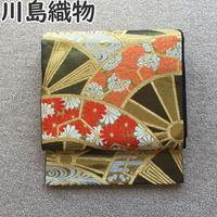 ◆老舗 川島織物 袋帯 源氏車文 正絹 六通◆状態良好 04y50