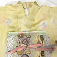 ◆逸品!三松 付下げセット,唐織袋帯,帯締め,帯揚げ◆一度のみ着用 4m7