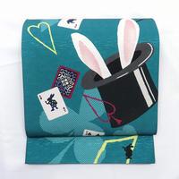 ◆マジックハット 京袋帯 兎 トランプ 正絹◆新品 4mn6