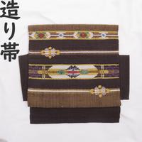 ◆紬 造り帯/つけ帯/作り帯 横間道◆美品 01mr2