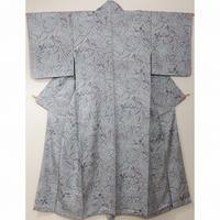 ◆小紋 正絹 楓 植物 虫食い文 正絹◆美品 2m17