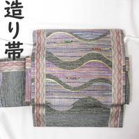 ◆ラメ 二重太鼓 造り帯/つけ帯/作り帯◆美品 01mr4
