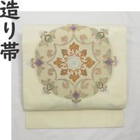 ◆唐花 造り帯/つけ帯/作り帯 ラメ糸◆美品 01mr11