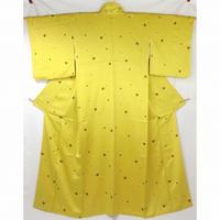 ◆水玉模様の艶やかな小紋 正絹 ◆美品 4m42
