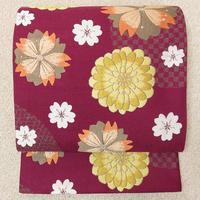 ◆紫野美術工芸 全通袋帯 桜菊 金糸◆新品未使用 11y6