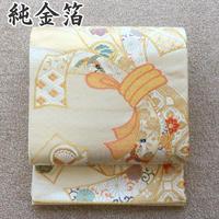 ◆逸品!純金箔 唐織 袋帯 正絹◆未使用品美品 04y59