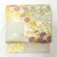 ◆じゅらく謹製 帝王紫 袋帯 あけぼの繭 西陣織証紙付◆新品 4my40
