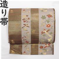 ◆鳳凰文 造り帯/つけ帯/作り帯 金糸◆美品 01mr9