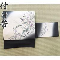 ◆絽 夏帯 アザミ文 作り帯/付け帯 名古屋帯◆美品 04mr39