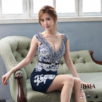 【IRMA】フラワー刺繍デザイン /シアーレース OP【95459】