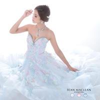 【JEAN MACLEAN】MiXカラー/フラワーレース/姫LongDress【91681】