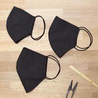 3層立体布マスク グラフチェック