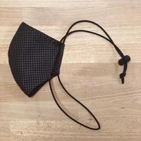 3層立体布マスク オーバーヘッド+耳かけ グラフチェック 耳にかけないマスク