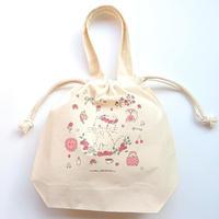 iromono×mikko illustrationsコラボ  巾着バッグ