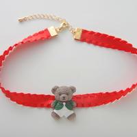 テディベアチョーカー/Red
