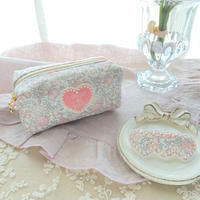 Flower mini pouch / pink