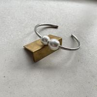 silver999 slim bangle  <zara> パール