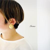 Flower L brass / ピアス / イヤリング